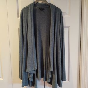 🎃Cameo teal-gray draped sweater, size 2X